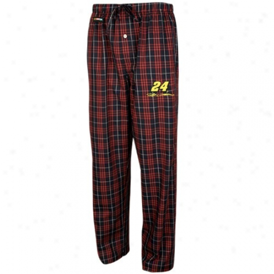 #24 Jeff Gordon Black Plaid Occurrence Pajama Pants