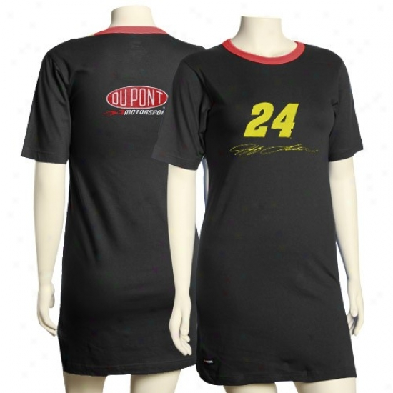 #24 Jeff Gordon Ladies Black Driver Nightshirt