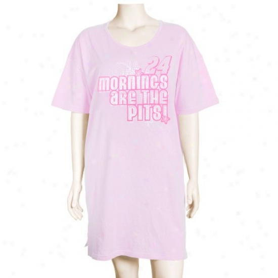 #24 Jeff Gordon Ladies Pink Mornings Are The Pits Nightshirt