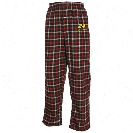 #24 Jeff Gordon Navy Blue Plaid Tailgte Flannel Pajama Pants