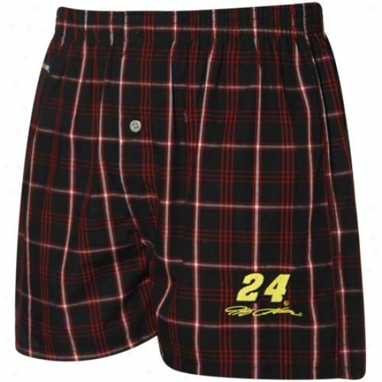 #24 Jeff Gordon Red-black Boxer Shorts