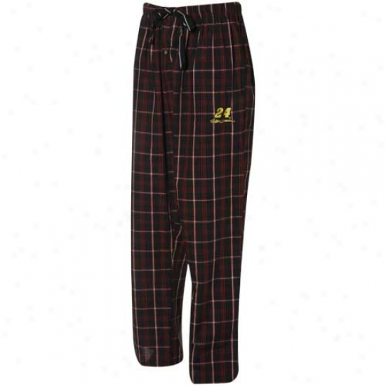 #24 Jeff Gordon Red-black Plaid Pajama Pants