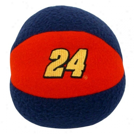 #24 Jeff Gordon Red-navy Blue Team Ball Rattle