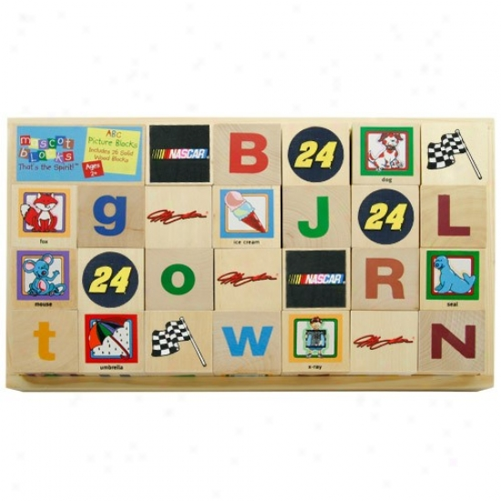 #24 Jeff Gordon Wioden Racing Alphabet Blocks