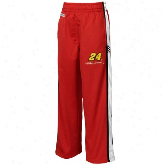 #24 Jeff Gordon Youth Red Speedway Footprint Side Pants