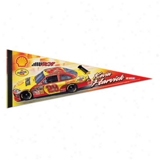 #29 Kevin Harvick Gold-red 12'' X 30'' Driver Premium Felt Pennant