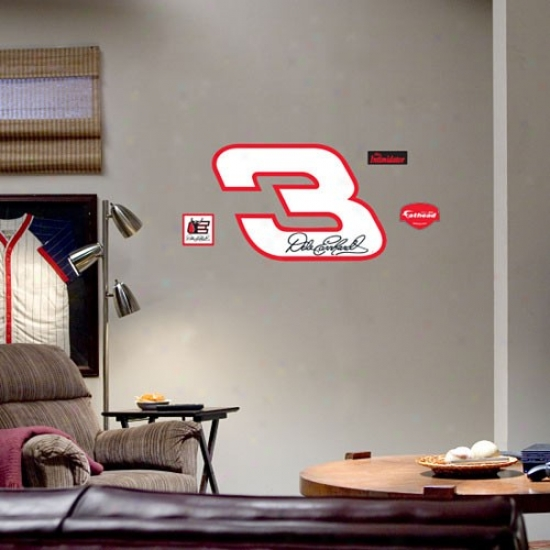 #3 Dale Earnhardt Team Logo Fathead Wall Sticker