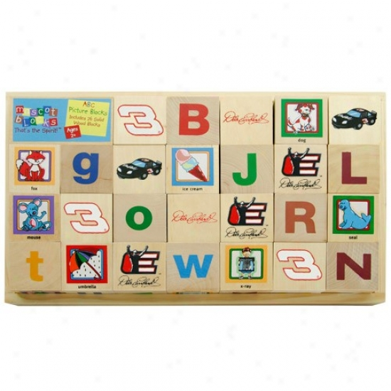#3 Dale Earnhardt Wooden Racing Alphabet Blocks