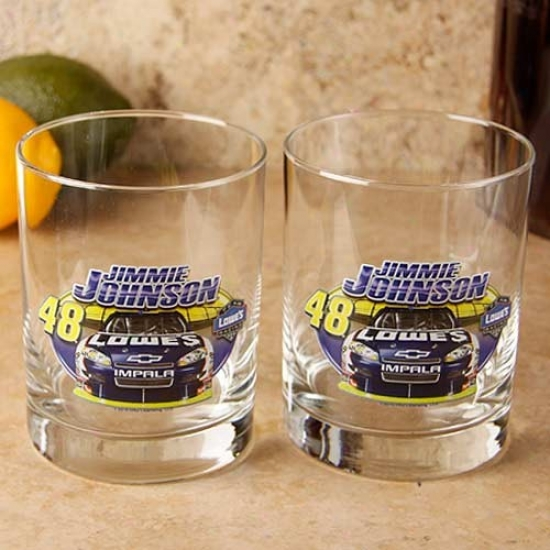 #48 Jimmie Johnson 2-pack Enhanced Hi-def 14oz. Executive Rocks Glass
