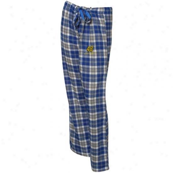 #48 Jimmie Johnson Ladies Royal Blue Plaid Harmony Pajama Pants
