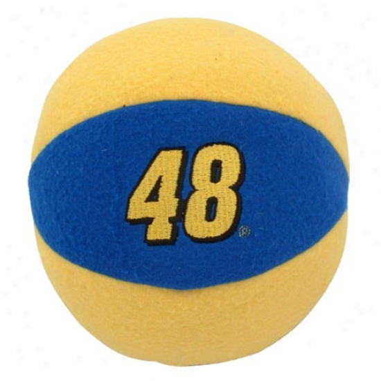 #48 Jimmie Johnson Royal Blue-gold Team Dance Rattle
