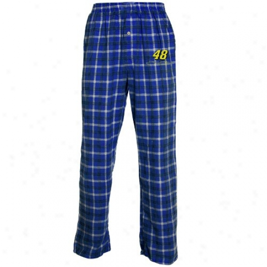 #48 Jimmie Johnson Royal Blue Tailgate Pajama Pants