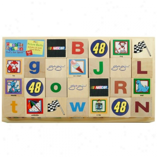 #48 Jimmie Johnson Wooden Racing Alphabe Blocks
