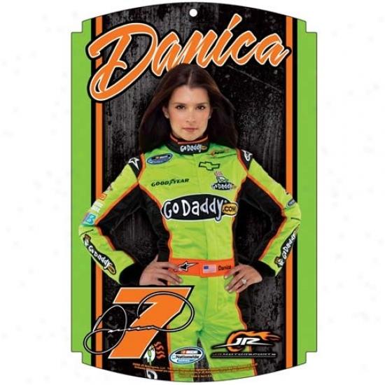 #7 Danica Patrick Wood Sign