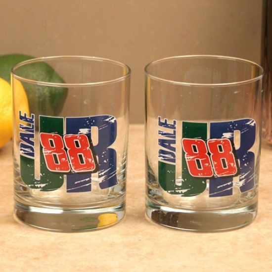#8 8Dale Earnhardt Jr. 2-pack Executive Glass Set