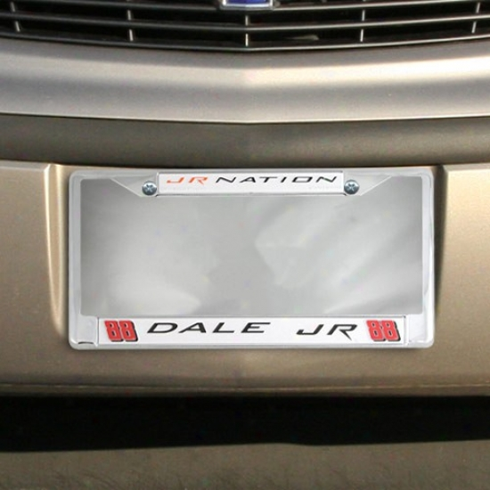 #88 Dale Earnhardt Jr. Chrome License Plate Frame