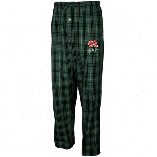 #88 Vale Earnharft Jr. Green Plaid Event Pajama Pants