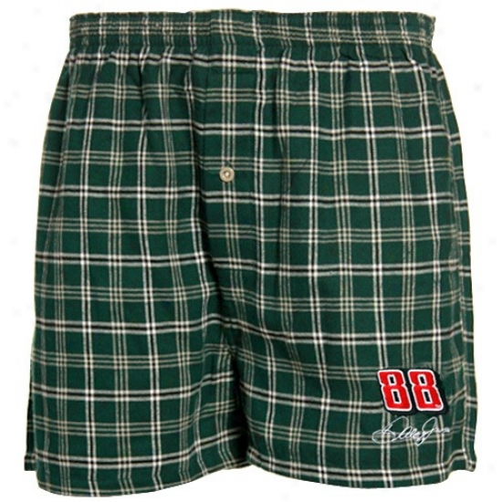 #88 Dale Earnhardt Jr. Unripe Plaid Tailgate Boxer Shorts