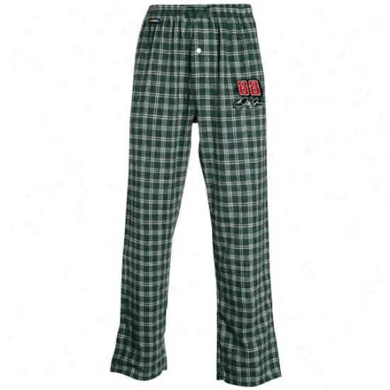 #88 Dale Earnhardt Jr. Green Plaid Tailgate Pajama Pants