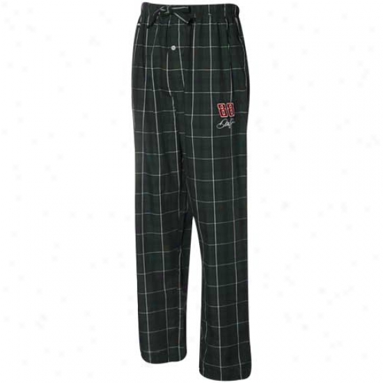 #88 Dale Earnhardtt Jr. Green-white Plaid Pajama Pants