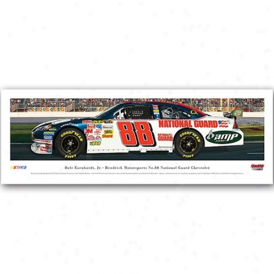 #88 Dale Earnhardt Jr. Hendrick Motor Sports Natoonal Guard Chevrolet Panoramic Print