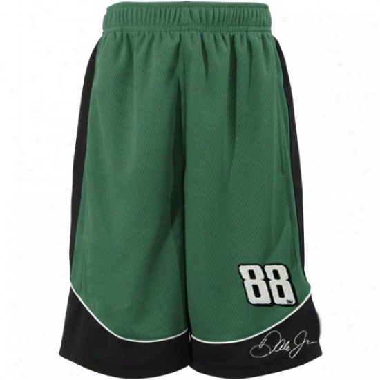 #88 Dale Earnhardt Jr. Youth Green Speed Shorts