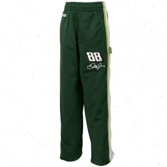 #88 Dale Earnhardt Jr. Youth Green Speedway Track Side Pants