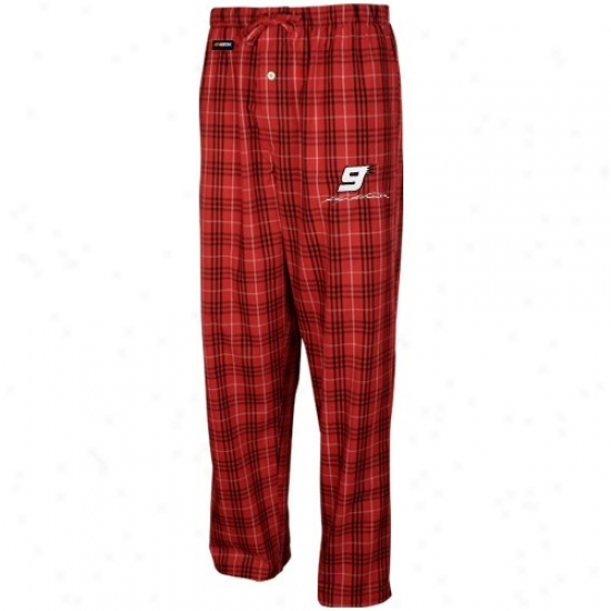 #9 Kasey Kahne Red Plaid Event Pajama Pants