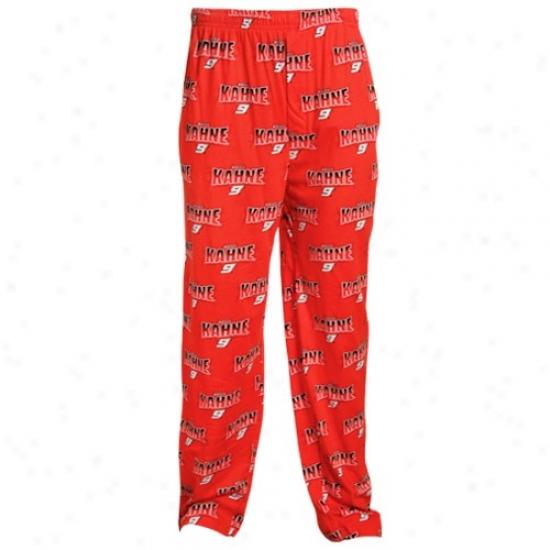 #9 Kasey Kahne Red Roller Print Pajama Pants