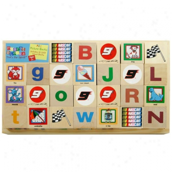 #9 Kawey Kahne Wooden Racing Alphabet Blocks
