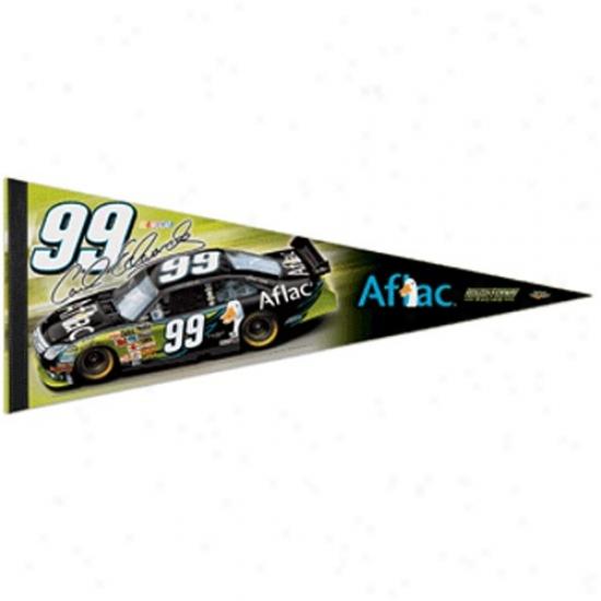 #99 Carl Edwarsd Gold 12'' X 30'' Driver Premium Felt Pennant