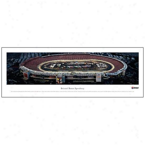 Bristol Motor Speedway Nighttime Panoramic Print