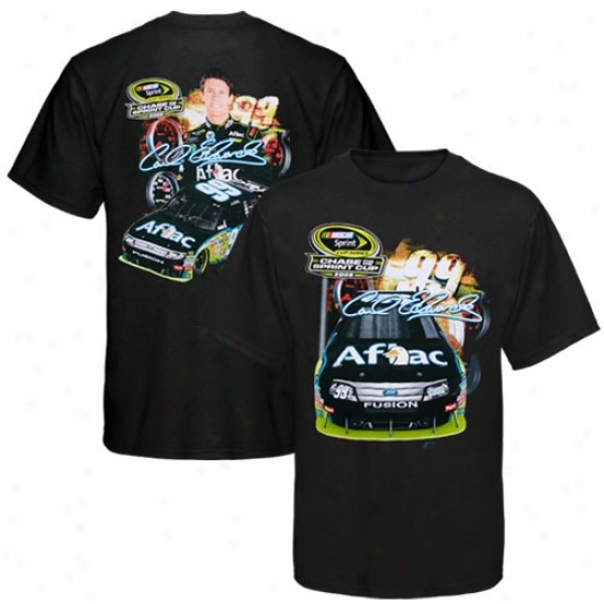 Carl Edwards Apparel: #99 Carl Edwards Black Chase For The Nascar Sprint Cup T-shirt