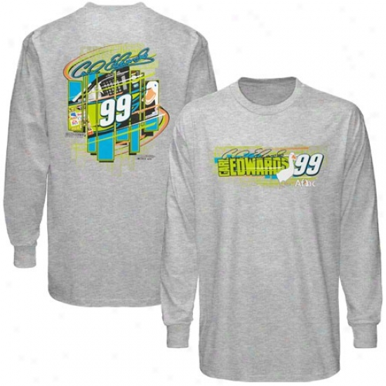 Carl Edwards Attire: #99 Carl Edwards Ash Racing Long Sleeve T-shirt