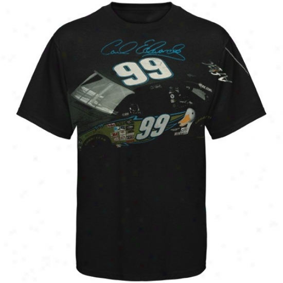 Carl Edwards Attire: #99 Carl Edwards Wicked Car Signatire T-hirt