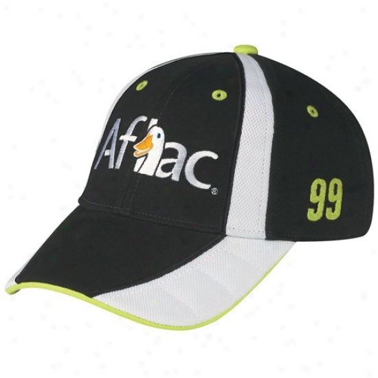 Carl Edwards Gear: #99 Carl Edwards Black Driver Pit Adjustable Hat