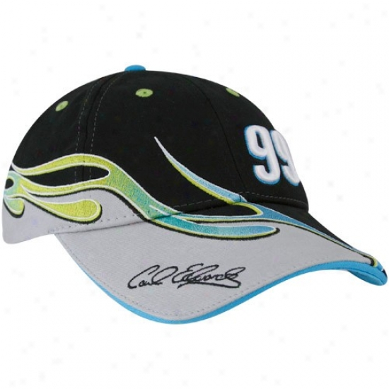 Carl Edwards Gear: #99 Carl Edwards Black Element Adjustable Hat