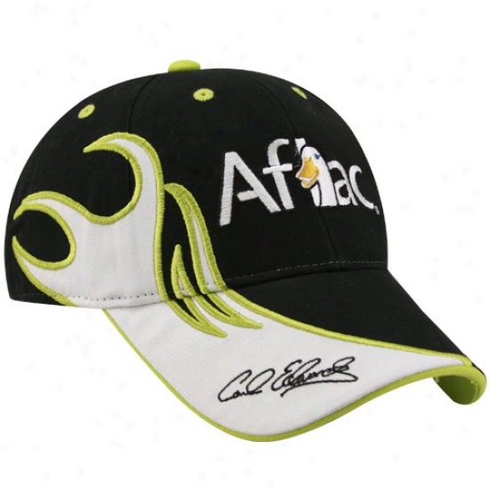 Carl Edwards Gear: #99 Carl Edwards Black Flammable Adjustable Hat