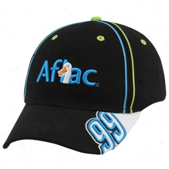 Carl Edwards Gear: #99 Carl Edwards Black Perfect Fit Stretch Hat