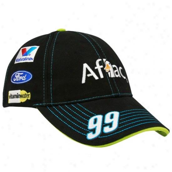 Carl Edwards Hat : #99 Carl Edwards Black Uniform Adjustable Hat