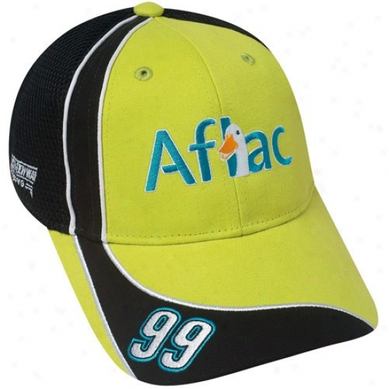 Carl Edwards Hat : #99 Carl Edwards Green Official Driver Pit Adjustable Ensnare Back Hat