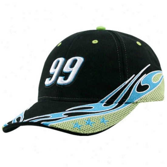 Carl Edwards Merchandise: #99 Carl Edwards Black Element Adjuqtable Hat