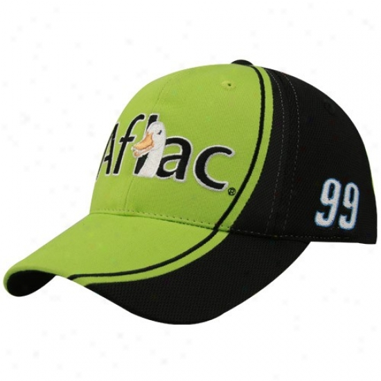 Carl Edwards Merchandise: #99 Carl Edwqrds Green-black Sponsor Adjustable Hat