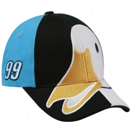 Carl Edwards Merchandise: #99 Carl Edwards Youth Black-light Blue Aflac Duck Character Adhustable Hat