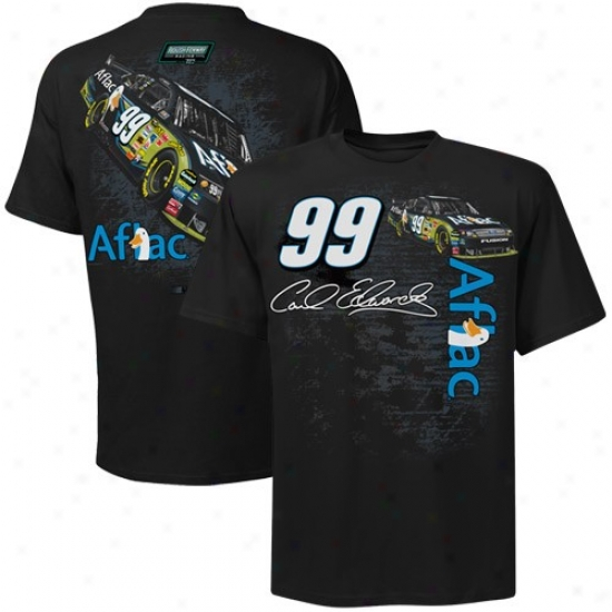 Carl Edwards Shirt : #99 Carl Edwards Black Back Straightaway Shirt