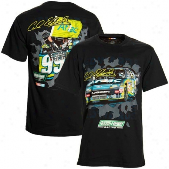 Carl Edwards Shirt : #99 Carl Edwards Black Breakout Performance Shirt