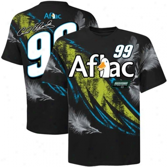 Carl Edwards Shirt : #99 Carl Edwards Black Oversize Premium Shirt