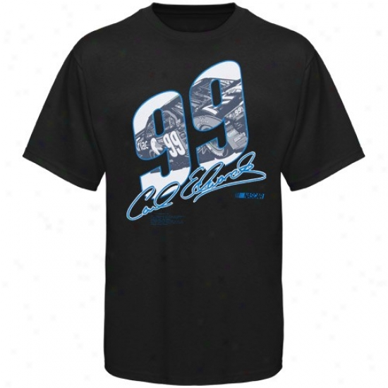 Carl Edwards Shirts : #99 Carl Edwards Black Race View Shirts
