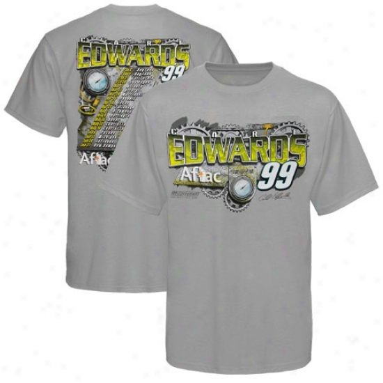 Carl Edwards T Shirt : #99 Carl Edwarfs Ash 2010 Schedule T Shirt
