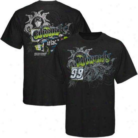 Carl Edwards T Shirt : #99 Carl Edwards Black Urban T Shirt